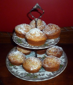 banana muffins on plate