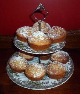 banana muffins on plate