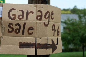 Garage Sale Sign photo by Susy Morris