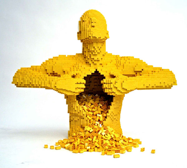lego masterpiece by nathan sawaya