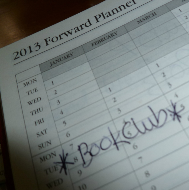 Book Club 2013 Planner Photo by Sheryl Allen