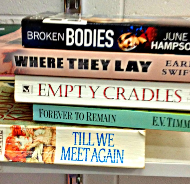 Book spine poetry #3 photo by Sheryl Allen