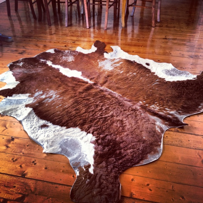 cowhide, ottoman, animal ottoman, ottoman DIY, fifty-something, boomers, midlife