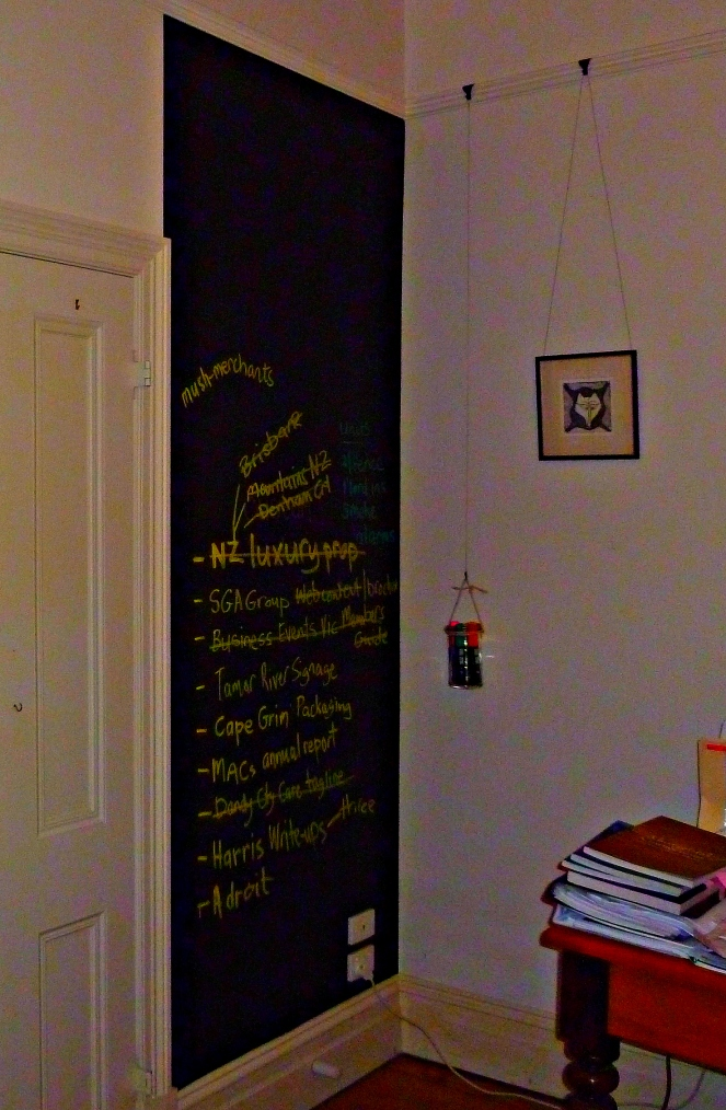 blackboard DIY, how to paint a blackboard wall, chalkboard, midlife, fifty-plus, boomers