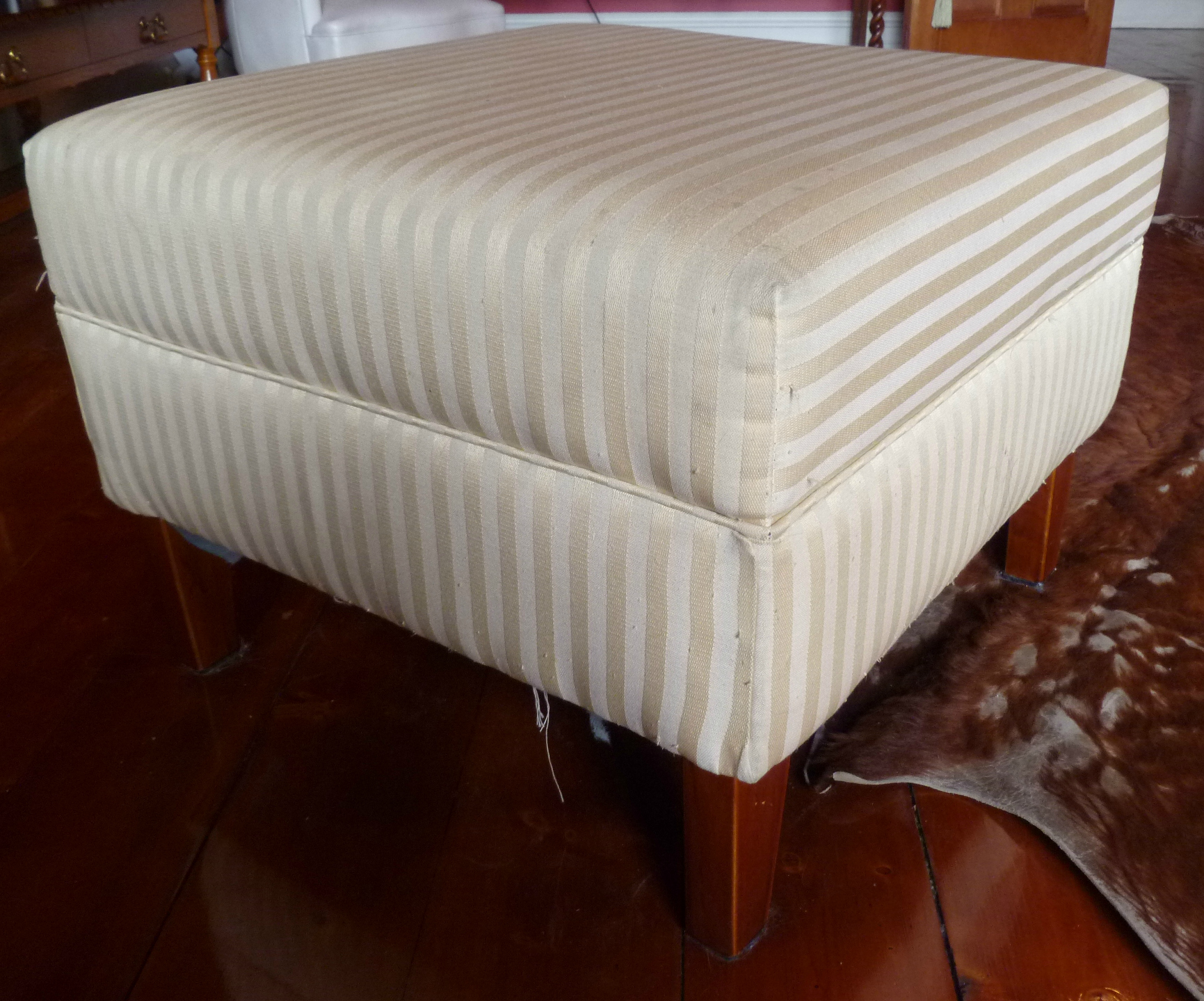 and coffee home table custom ottoman fireplace ottomans hide cowhide square hotel brand luxury furniture decor stools of mondo round stool maker pou cow for chairs