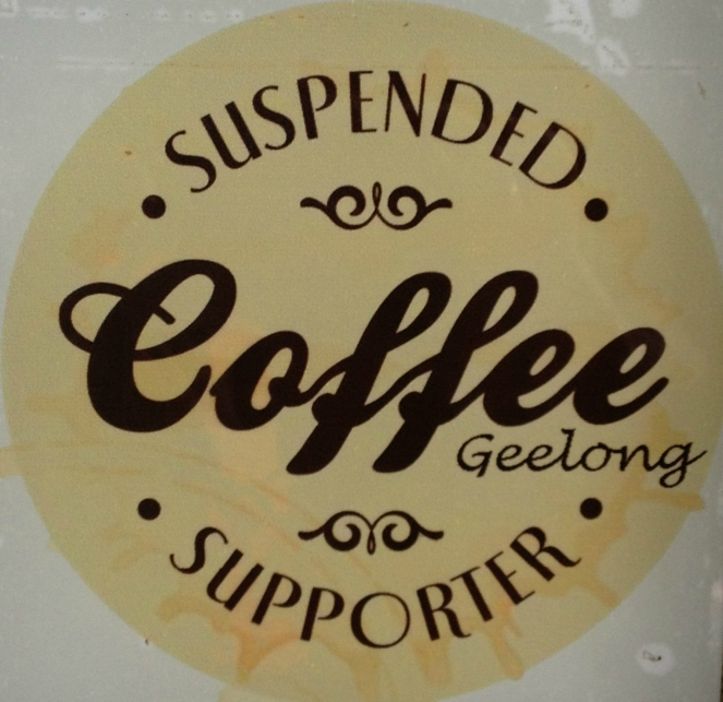 suspended coffee, coffee, cafe, charity, pay it forward, fifty-something, midlife, boomer