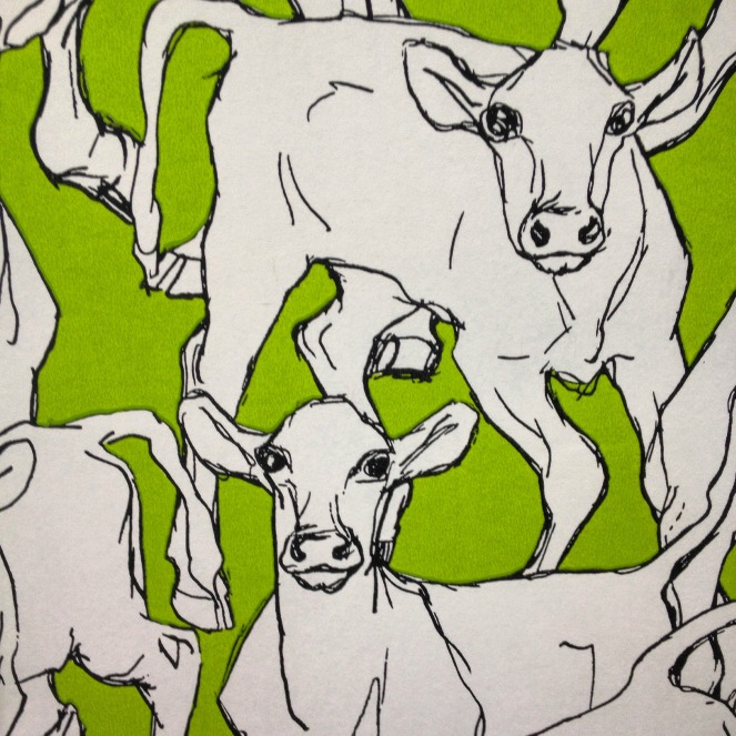wall paper, warren and hutch, cows, animal art, green, midlife, pakington street, geelong west, boomers, butchery, free range