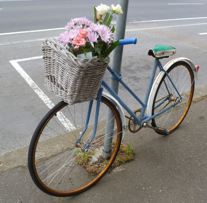 fixie, bike basket, gracious and delicious, canele shop, french cake shop, geelong west