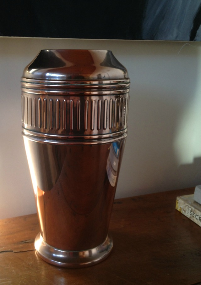 antique copper urn, collectable copper, interior design, secondhand rose, fifty something, midlife, boomers