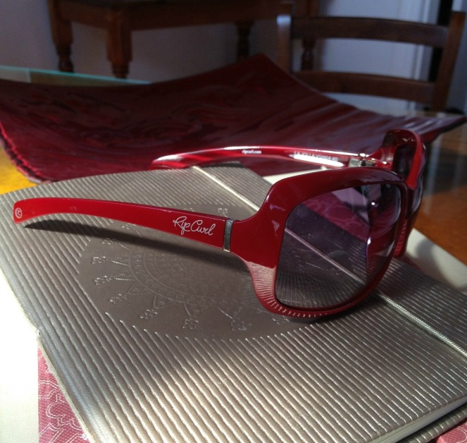 rip curl sunglasses, thrifting, garage sale, yard sale, fifty-something