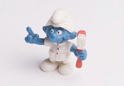 smurf, dentist, being fifty-something, midlife