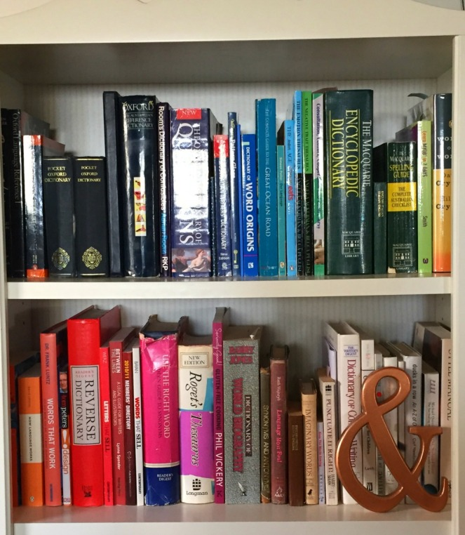 rainbow book shelf, office update, DIY update, upcycling, copper DIY, office makeover